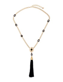Fashion Gold Color Tassel Decorated Long Necklace