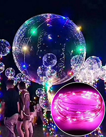 Trendy Pink Ball Shape Design Led Light Balloon(without Battery)