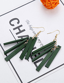 Fashion Green Strip Shape Decorated Earrings