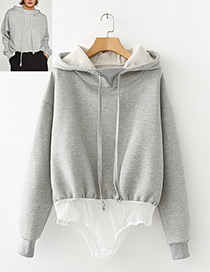 Fashion Gray Pure Color Decorated Jumpsuits