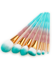 Fashion Blue+white Color-matching Decorated Brushes (7pcs)