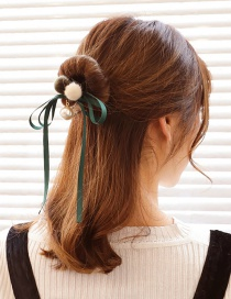 Lovely Green Fuzzy Ball Decorated Hair Band