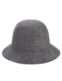 Trendy Gray Washbasin Shape Design Pure Color Hat