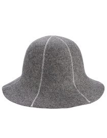 Trendy Gray Lines Design Simple Fisherman's Hat