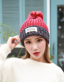 Fashion Red The Letter Patch Decorated Hat