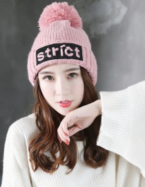 Fashion Pink Letter Shape Decorated Cap