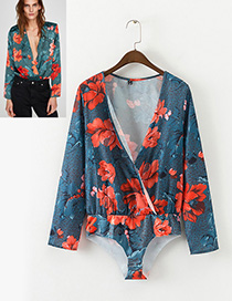 Sexy Multi-color Flower Shape Decorated Jumpsuits