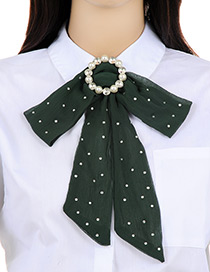 Elegant Dark Green Bowknot Shape Decorated choker