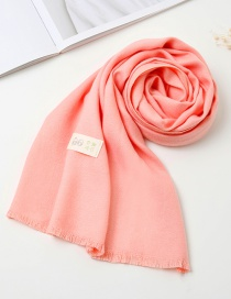 Fashion Pink Pure Color Decorated Baby Scarf