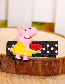 Fashion Pink+yellow Pig Shape Decorated Hair Clip