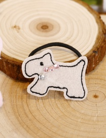 Fashion Beige Dog Shape Decorated Hair Band(1pcs)
