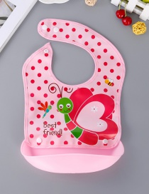 Fashion Pink Butterfly Pattern Decorated Bib