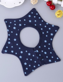 Fashion Navy Star Pattern Decorated Bib