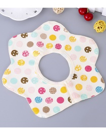 Fashion Multi-color Spot Pattern Decorated Bib