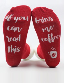 Fashion Red Letter Shape Decorated Sock