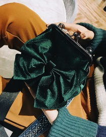 Elegant Green Bowknot Shape Decorated Bag
