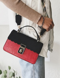 Fashion Black+red Color-matching Decorated Bag