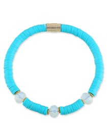 Fashion Blue Round Shape Decorated Necklace