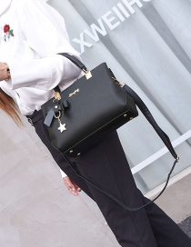 Fashion Black Bnowknot Decorated Handbag