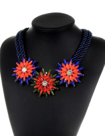 Fashion Multi-color Flower Shape Decorated Necklace