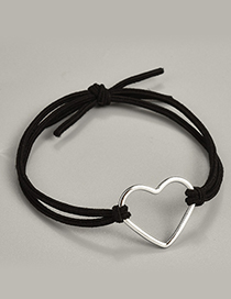 Fashion Black Heart Shape Decorated Hair Band