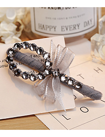 Lovely Gray Bowknot Decorated Simple Hairpin