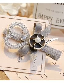 Elegant Gray Hollow Out Heart Shape Decorated Hairpin
