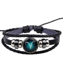 Fashion Black Aries Pattern Decorated Bracelet
