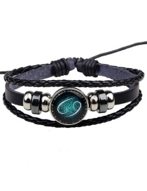 Fashion Black Cancer Pattern Decorated Bracelet