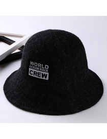 Fashion Black Letter Patch Decorated Hat