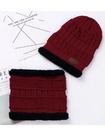 Fashion Red Letter Patch Decorated Hat ( 2 Pcs)