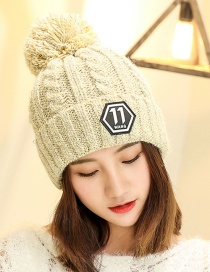 Fashion White Letter Patch Decorated Hat