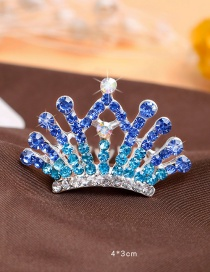Lovely Blue Hollow Out Decorated Hairpin