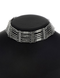 Fashion Gun Black Pure Color Decorated Choker