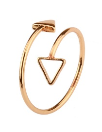 Fashion Gold Color Arrows Shape Decorated Pure Color Ring