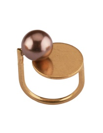 Fashion Gold Color Round Ball Decorated Opening Ring