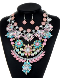 Trendy Multi-color Full Diamond Decorated Jewelry Sets