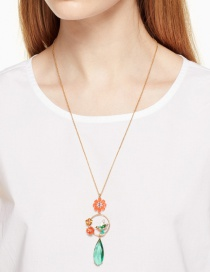 Elegant Multi-color Bird Shape Decorated Necklace