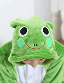 Lovely Green Frog Decorated Children Pajamas