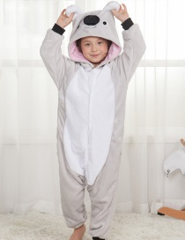 Lovely Gray Koala Decorated Children Pajamas
