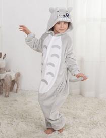 Lovely Gray Chinchilla Decorated Children Pajamas