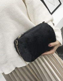Lovely Black Pure Color Decorated Bag