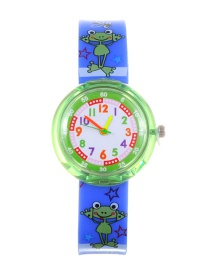 Fashion Green Frog Pattern Decorated Child Watch