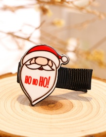 Fashion White+red Santa Claus Decorated Christmas Hairpin