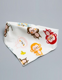 Lovely Multi-color Monkey Shape Decorated Bib
