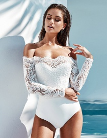 Fashion White Off Shoulder Design Pure Color Jumpsuit