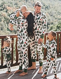 Fashion Green Christmas Tree Pattern Decorated Leisure Blousefor Father)
