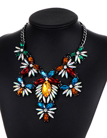Fashion Multi-color Hollow Out Decorated Necklace