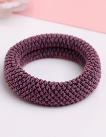 Fashion Purple Pure Color Decorated Hair Band