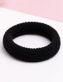 Fashion Black Pure Color Decorated Hair Band